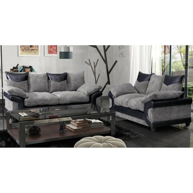 Black and grey fabric sofas for Black and grey sofa set