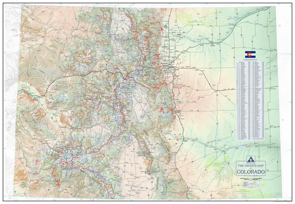 the hikers map of