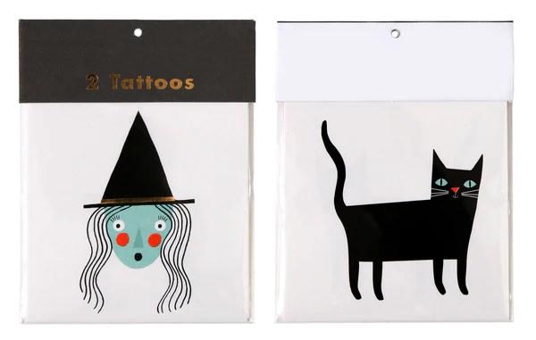 Tatuajes Temporales Halloween 2 Piezas Lycklig Party Shop