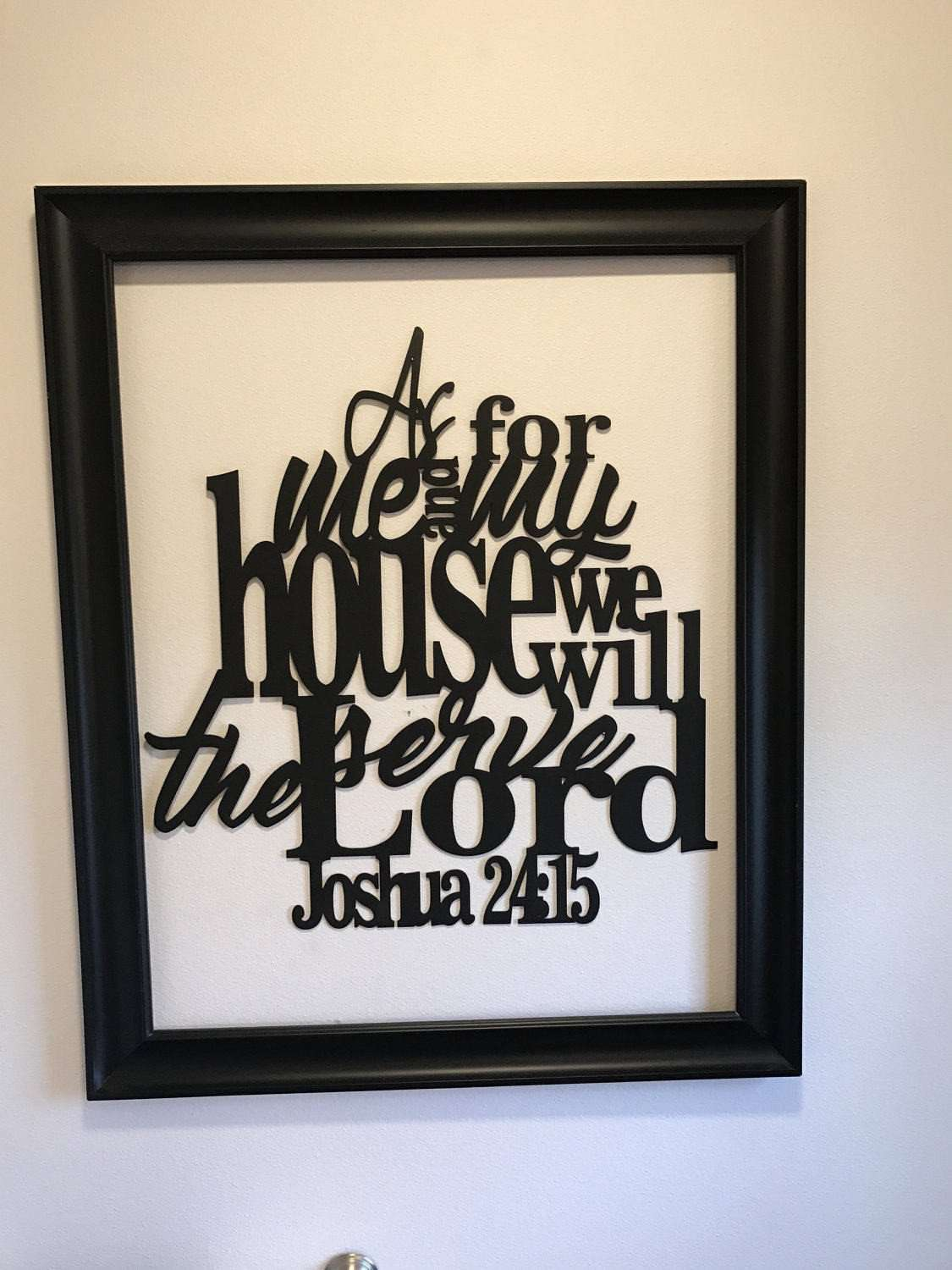As For Me And My House Wall Art Metal Christian Signs