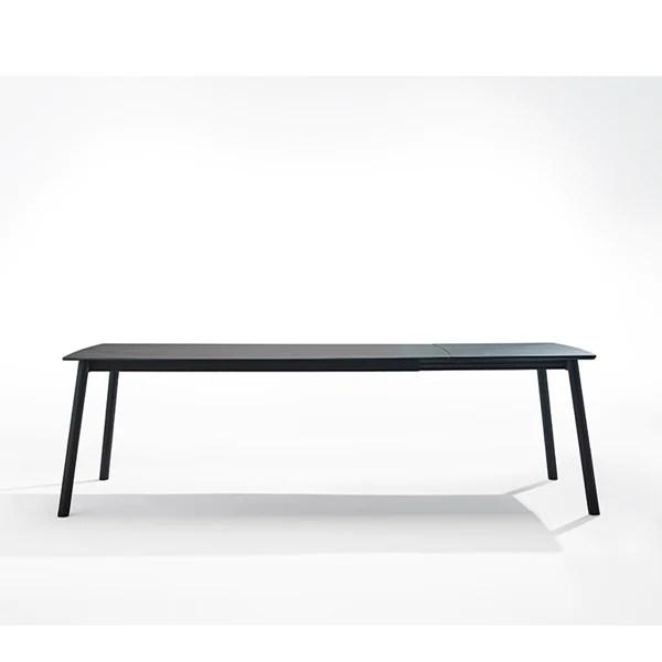 koln table extensible pieds bois et metal