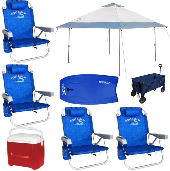 beach chairs with shade chair cover rentals in little rock ar family package maui vacation equipment for rent cooler wagon