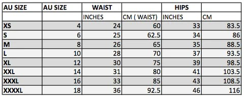 International skirt size conversion also sizing charts    rh dzo