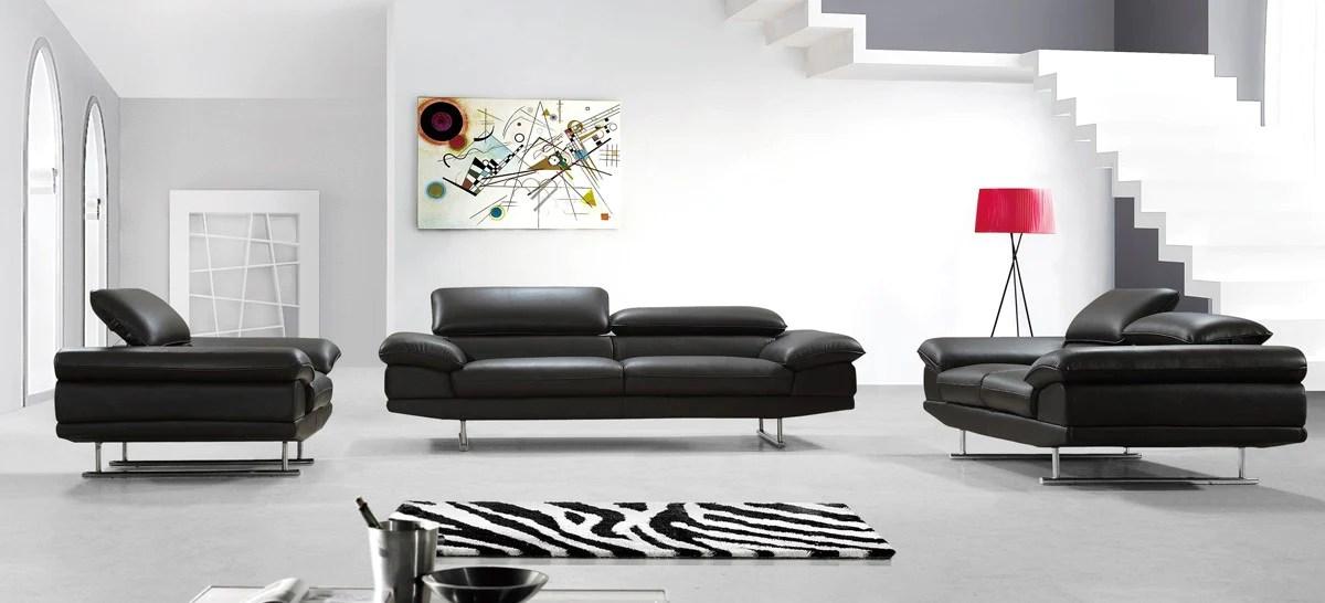 modern brown leather sofa bed extra large divani casa hollis set furniture net