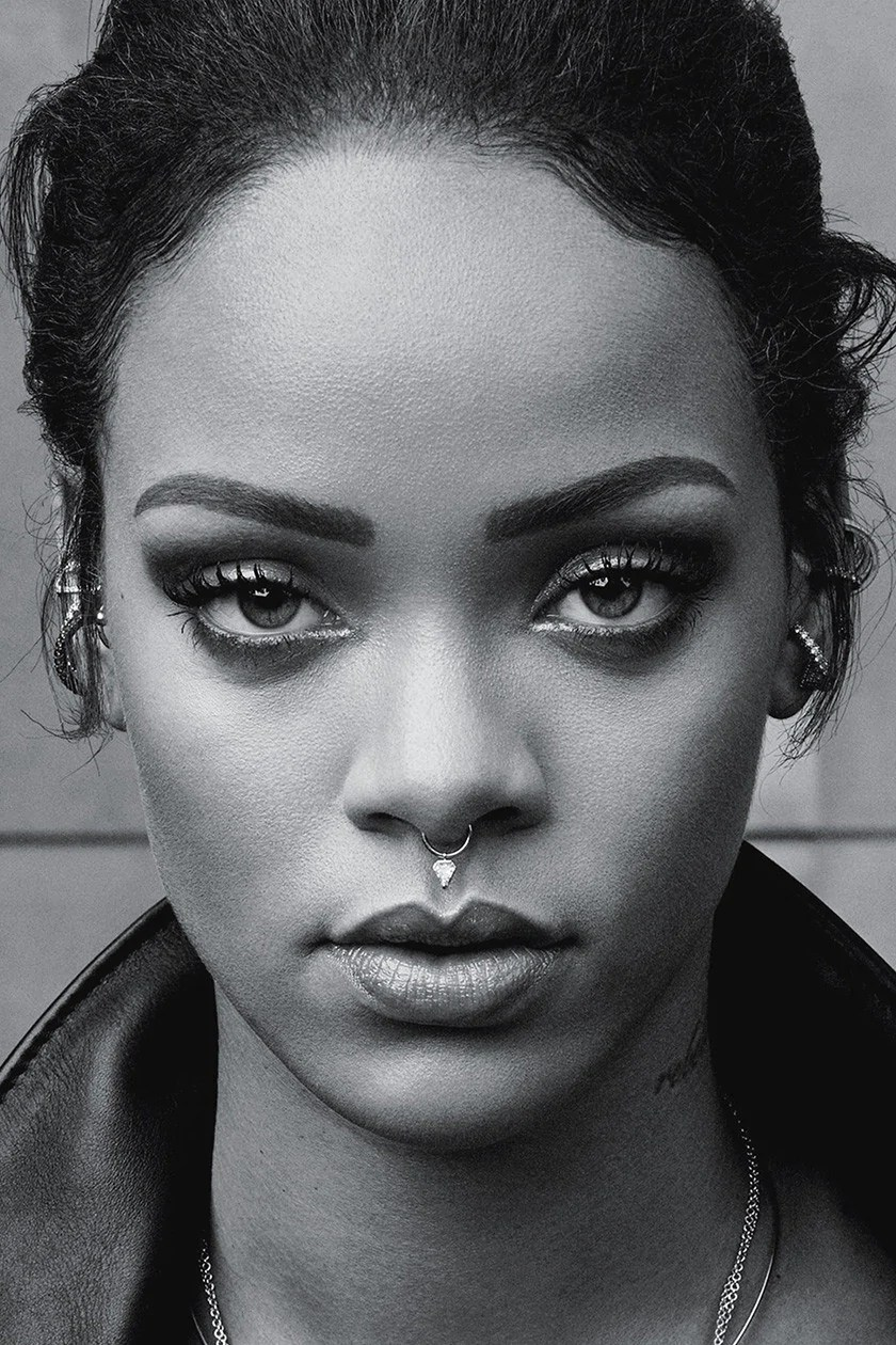 Rihanna Black And White : rihanna, black, white, Rihanna, Black, White, Poster, Uncle