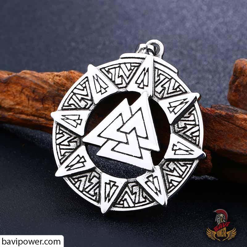 Stainless Steel Valknut Pendant Bp8 290 Bavipower