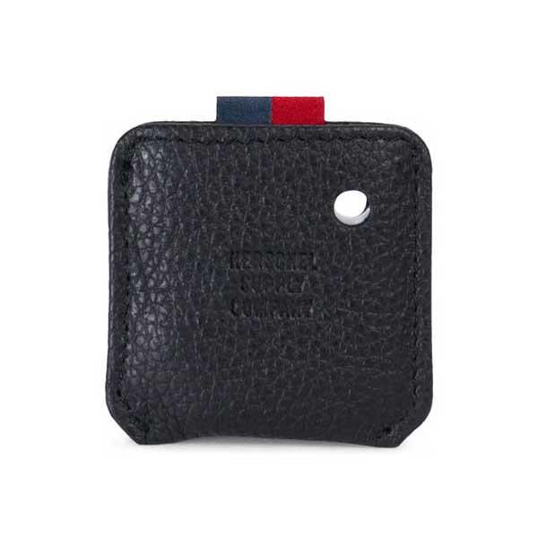 herschel supply co key chain tile mate black pebbled leather