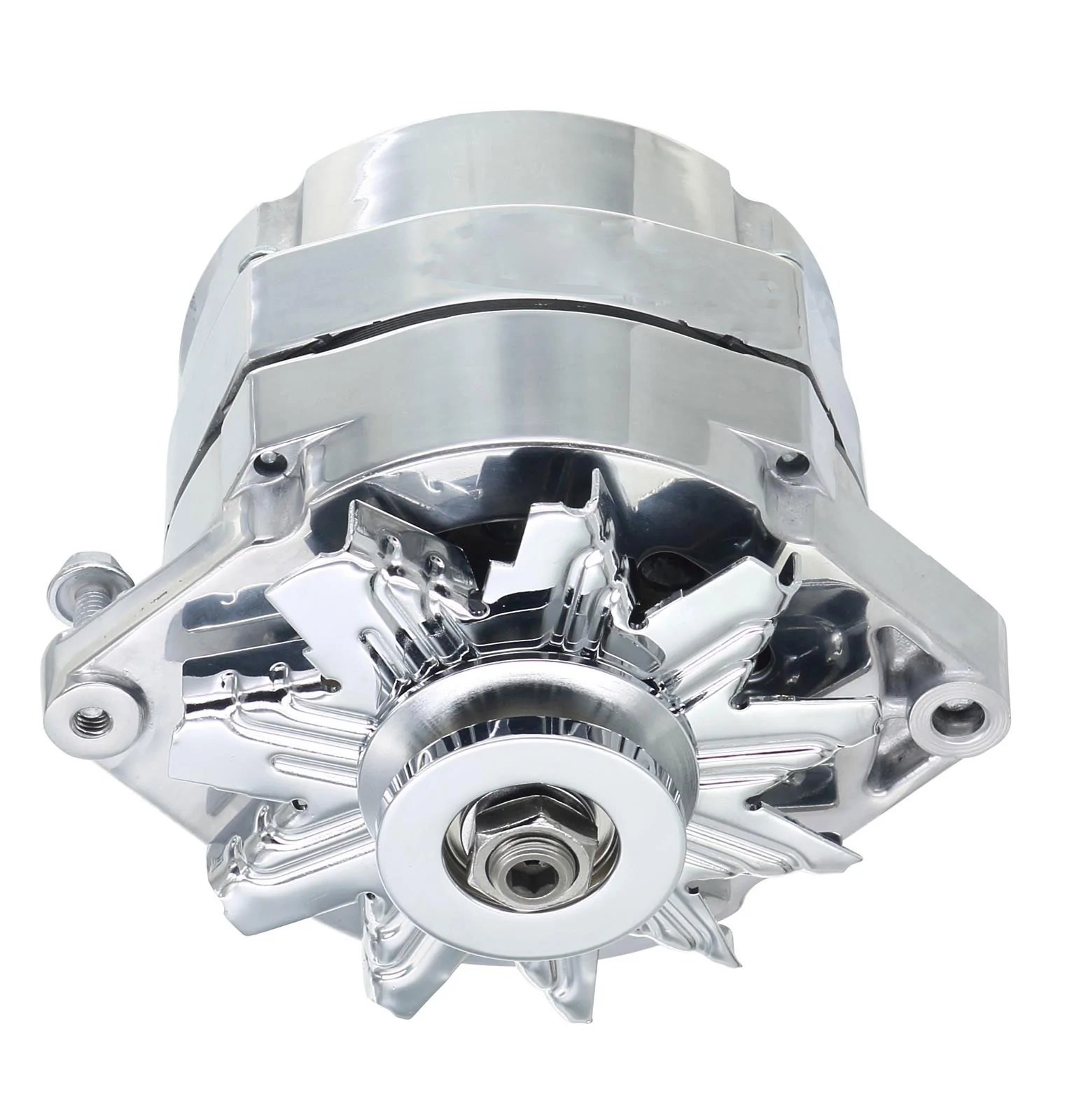 small resolution of 1967 1979 amc v8 chrome 150 amp motorola case 1 wire alternator 1 or 6 groove pulley