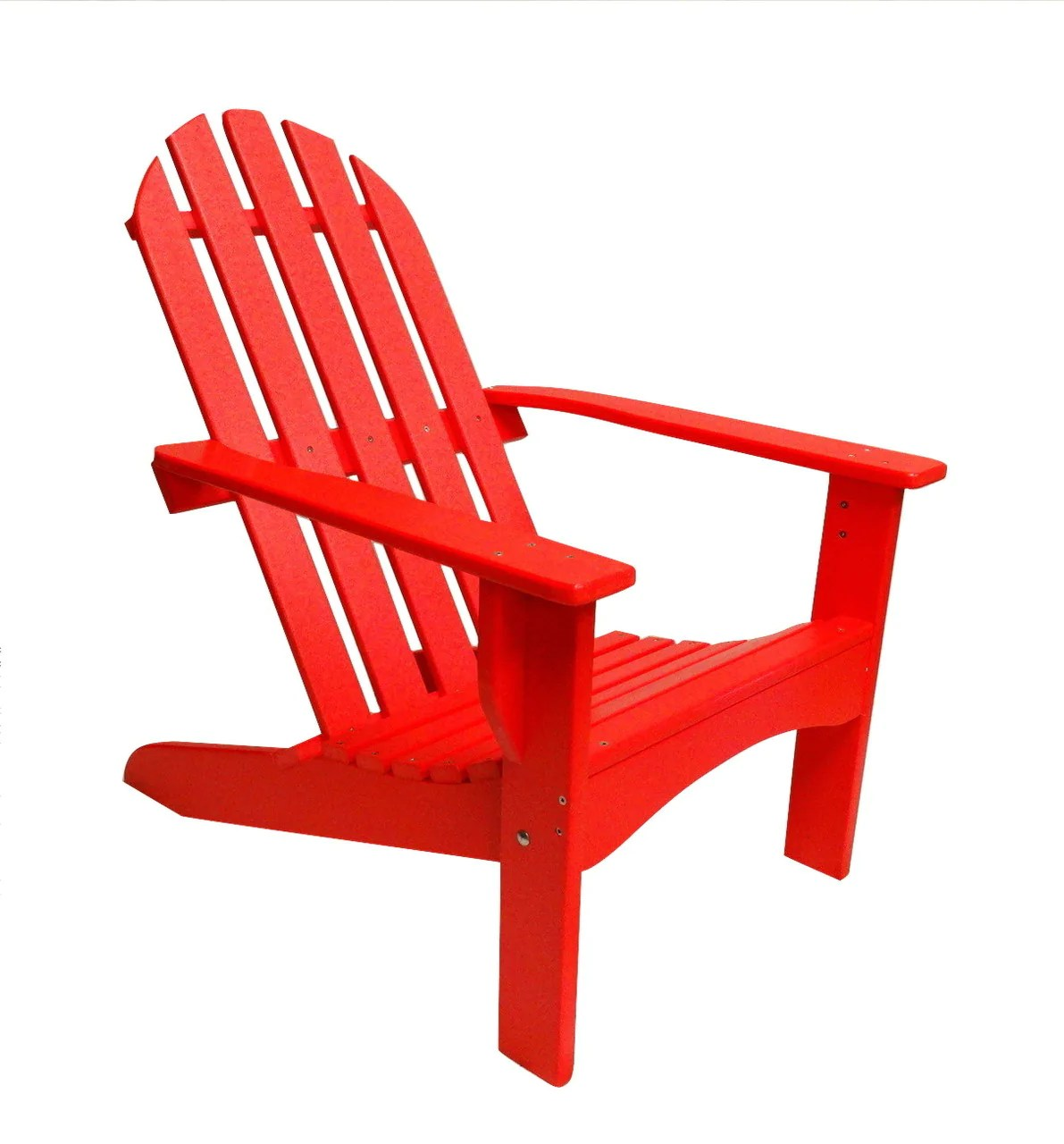 red adirondack chairs plastic large saucer chair cover casual poly evergreen patio