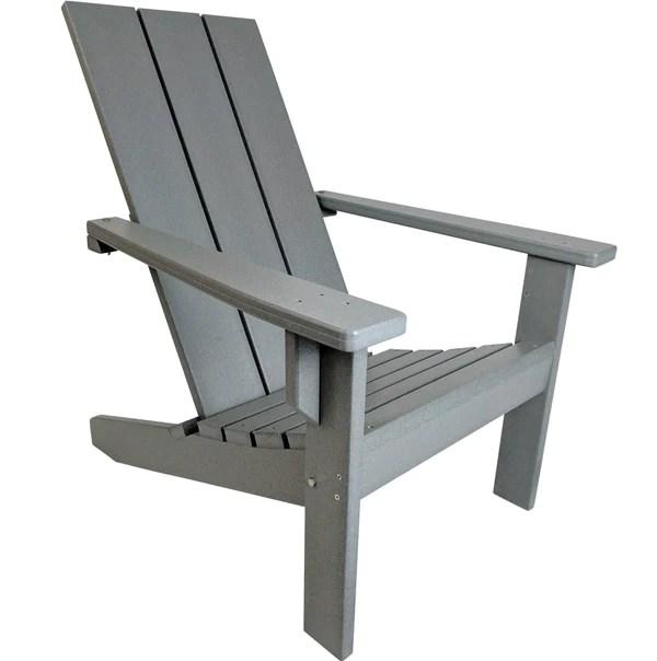 Modern Adirondack Chair  Evergreen Patio