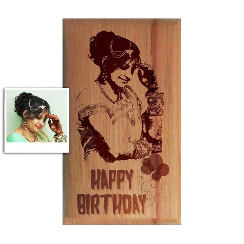 personalised wooden engraved photo