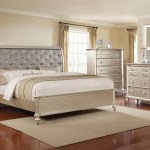 Champagne Tufted Bedroom Group Pacific Imports Inc