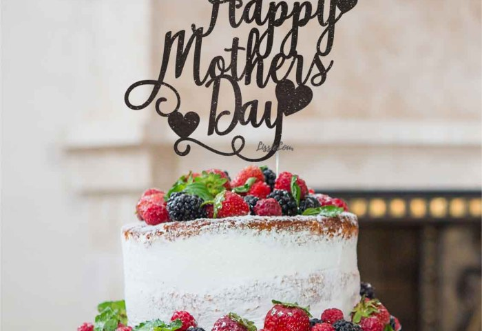Happy Mothers Day Cake Topper Glitter Card Lissielou