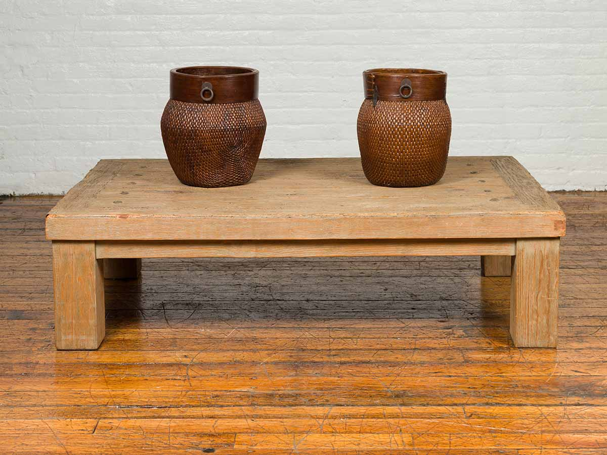 vintage driftwood distressed coffee table from mexico fea home