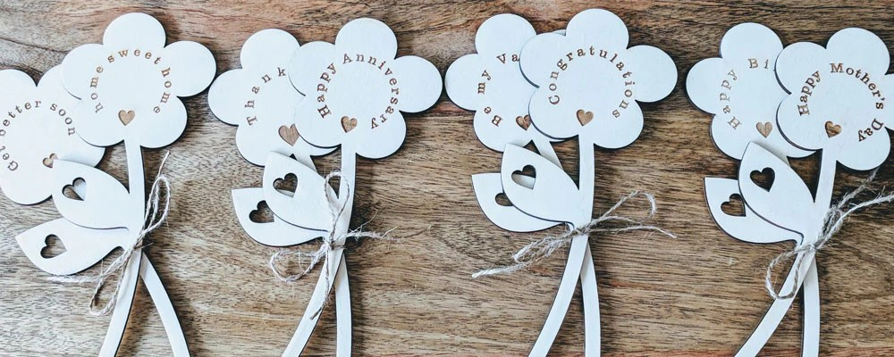 Personalised Wooden Flowers