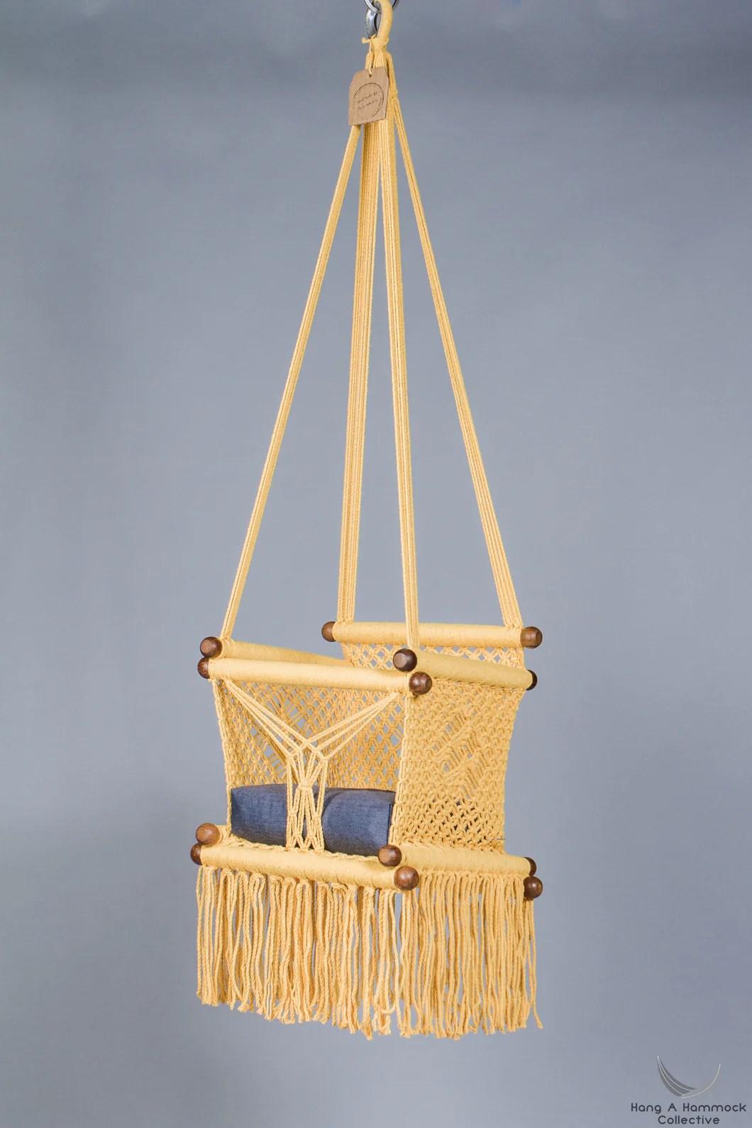 hanging chair for baby office johor bahru swing in macrame  hangahammockcollective
