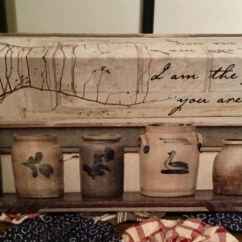 Kitchen Crocks Corner Hutch Small Canvas Simple Pleasures Bountiful Treasures