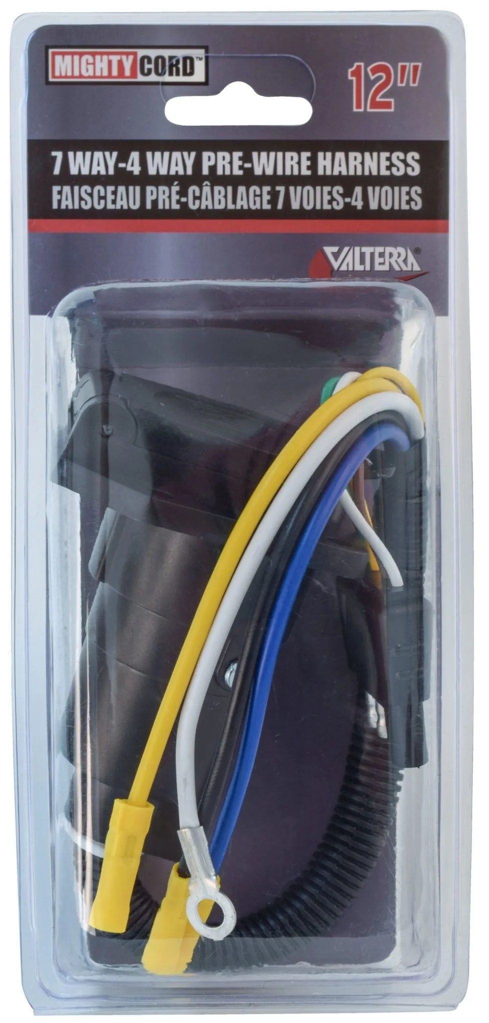 hight resolution of mighty cord 7 way to 4 way pre wire harness 12