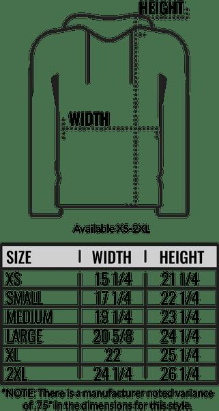 also size chart american apparel  hooded sweatshirt coed monkey rh coedmonkey