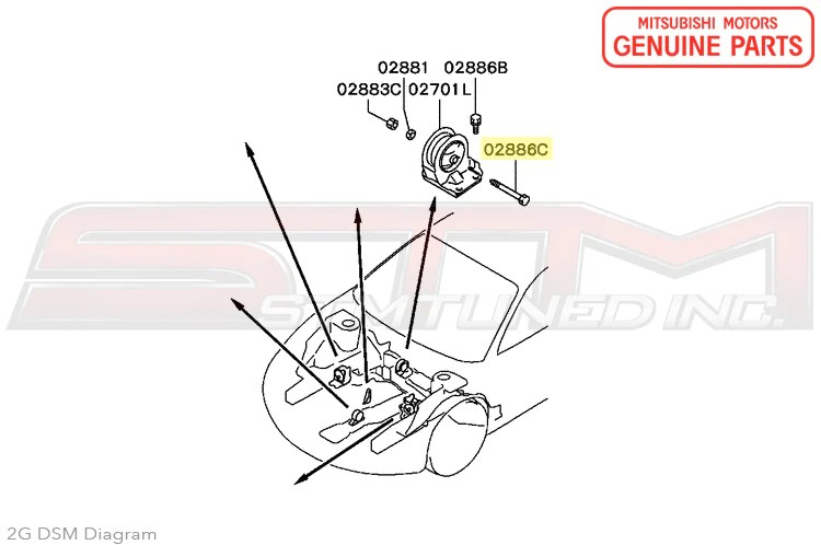 Eclipse Motor Mount Replacement Motor Repalcement Parts And Diagram