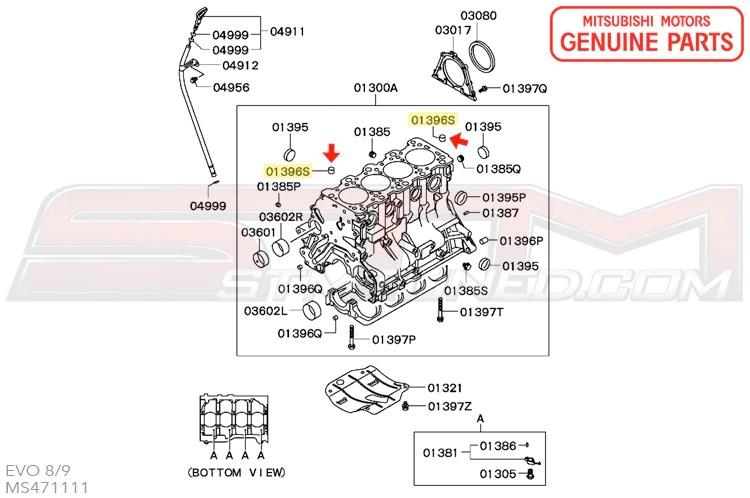 MS471111 OEM 4G63 Engine Cylinder Block Dowel Pin