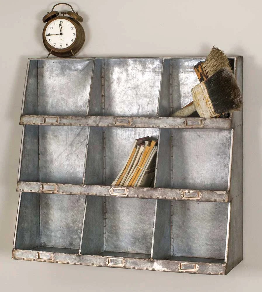 Galvanized Wall Cubbies - Emory Valley Mercantile