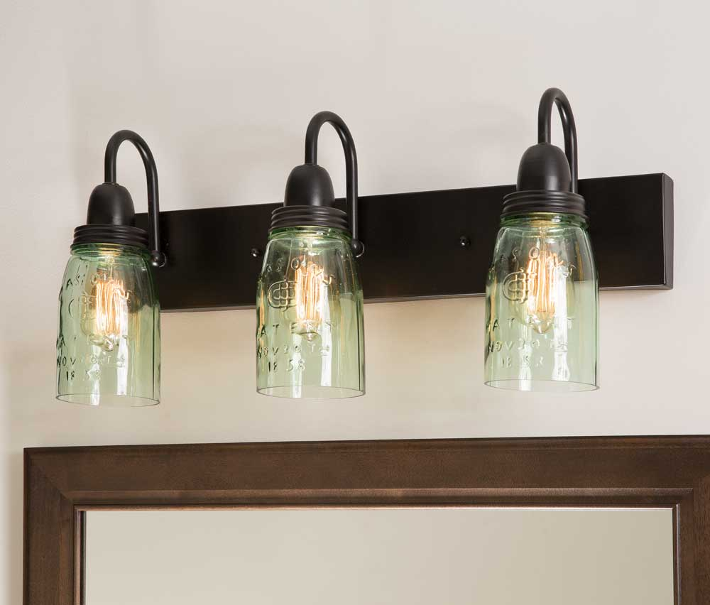 Mason Jar Bathroom Light Mason Jar Farmhouse Bathroom Vanity Light Emory Valley Mercantile