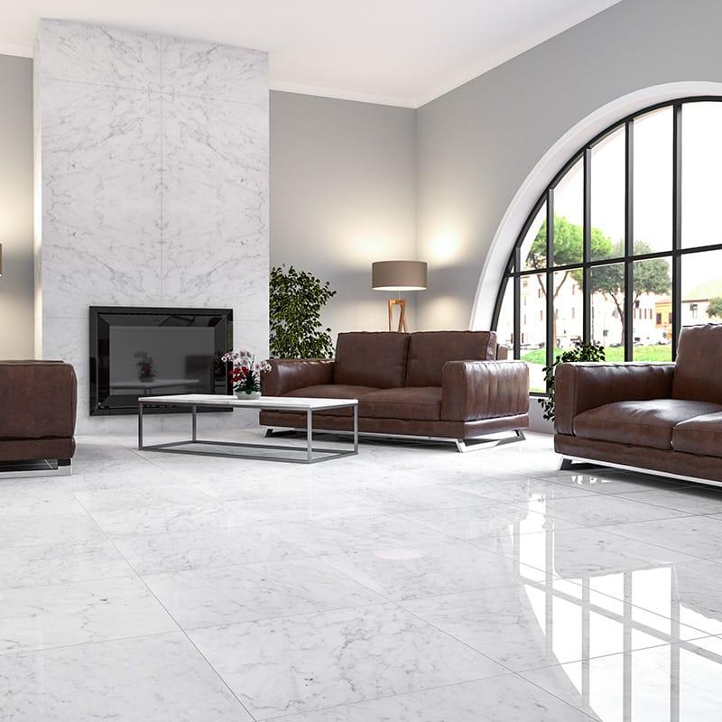 calacatta royal polished marble tiles 36x36