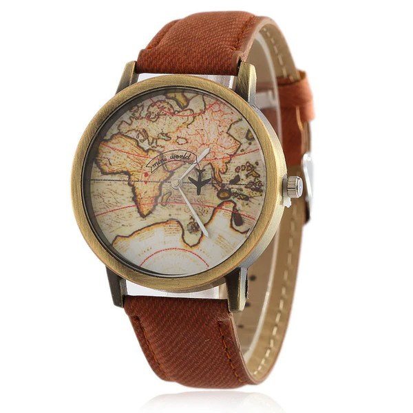 41e705a16f2 The Original Vintage Map Watch Travelers Of Attractions