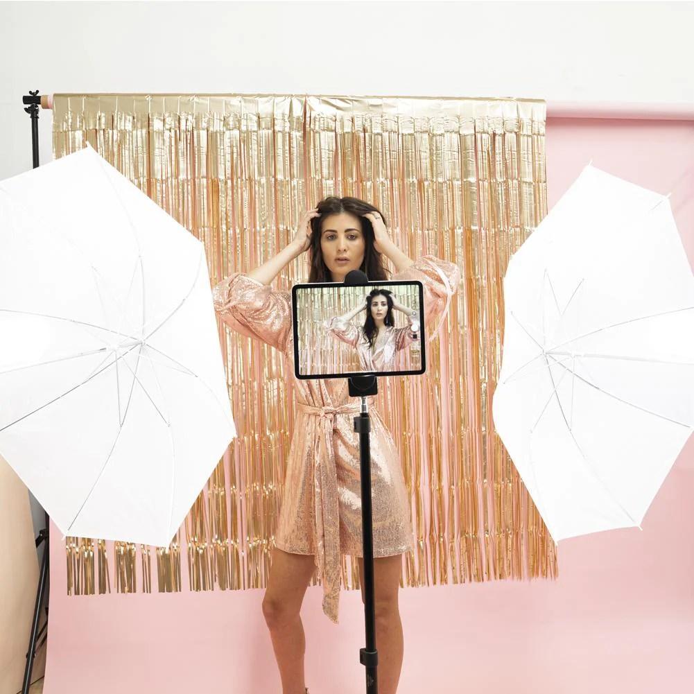 diy party photobooth lighting hollywood kit