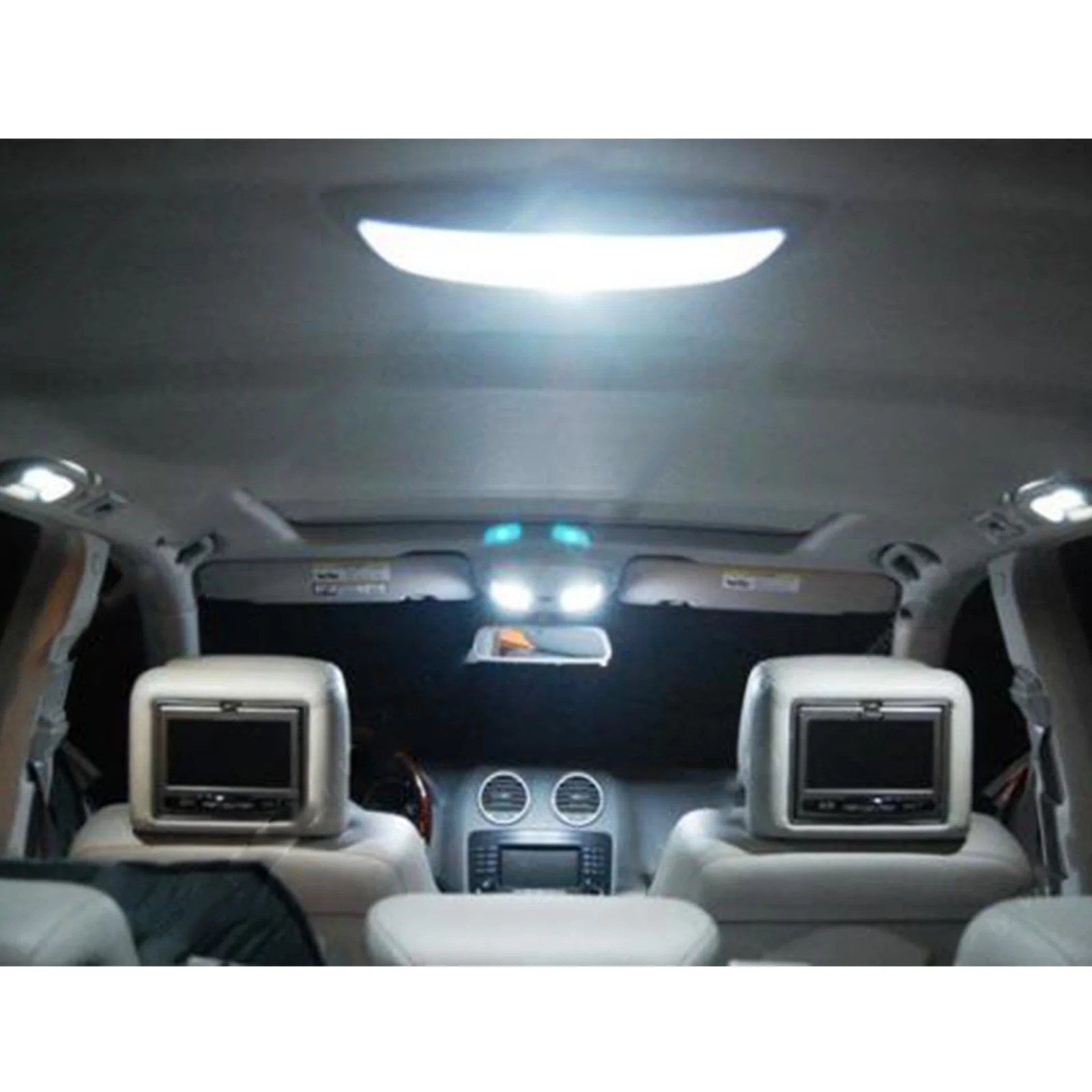 2001 2003 6 x led full interior lights package kit for acura cl type  [ 1600 x 1600 Pixel ]