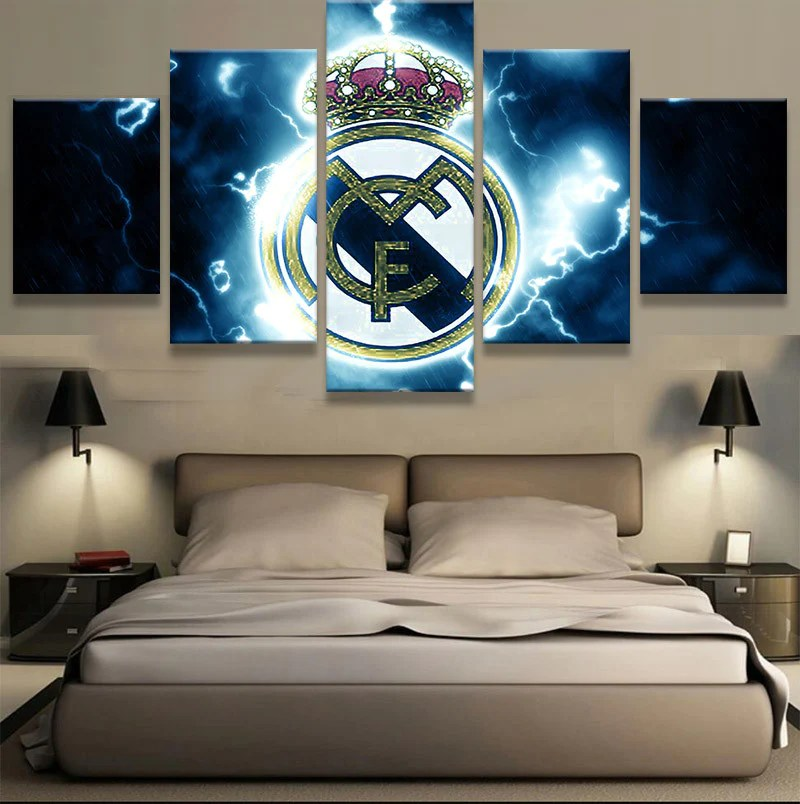 5 Panel New Sport Boys Room Deco Real Madrid  Sports