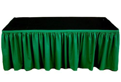 Table Skirting  4 meter Christmas Green  HA Hire