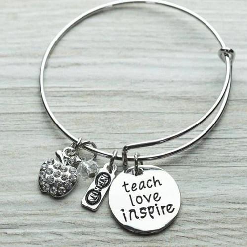 teacher love inspire bangle