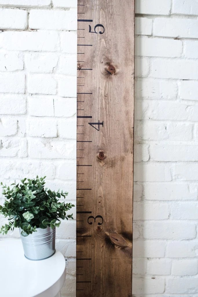 Rustic walnut wooden growth chart also  white loft rh shopwhiteloft