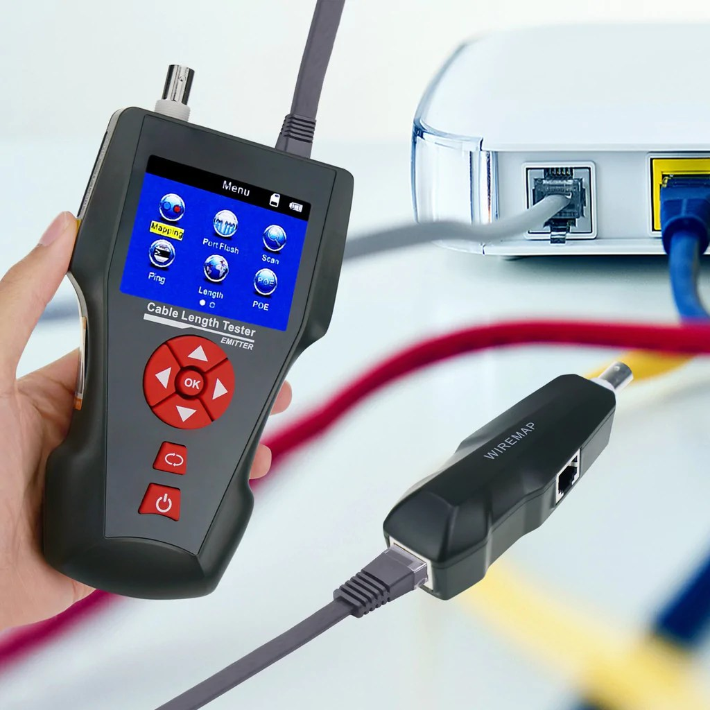 hight resolution of  nf 8601a digital cable tester wire tracker rj45 rj11 bnc cable length with free