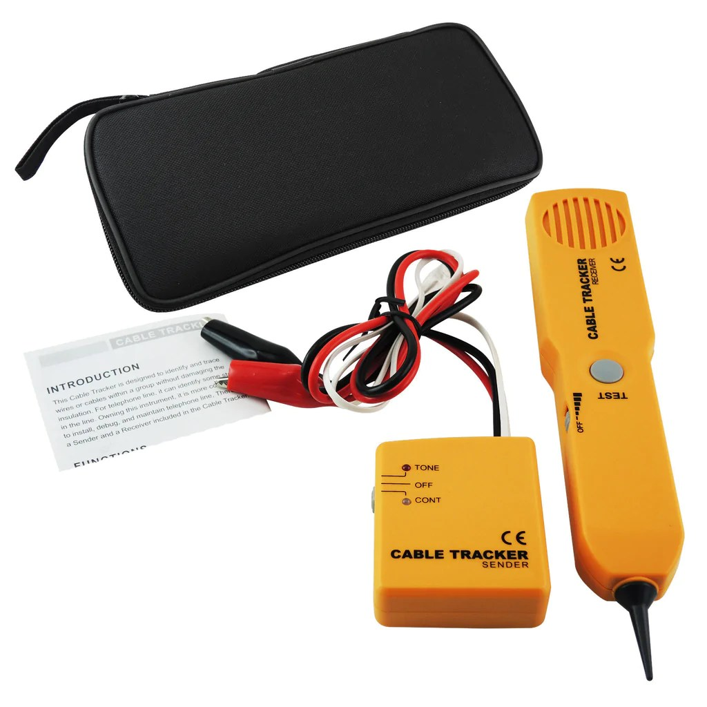 e04 026 telephone line cable tracker wire tracer tester sender and reciever kit tone continuity  [ 1024 x 1024 Pixel ]