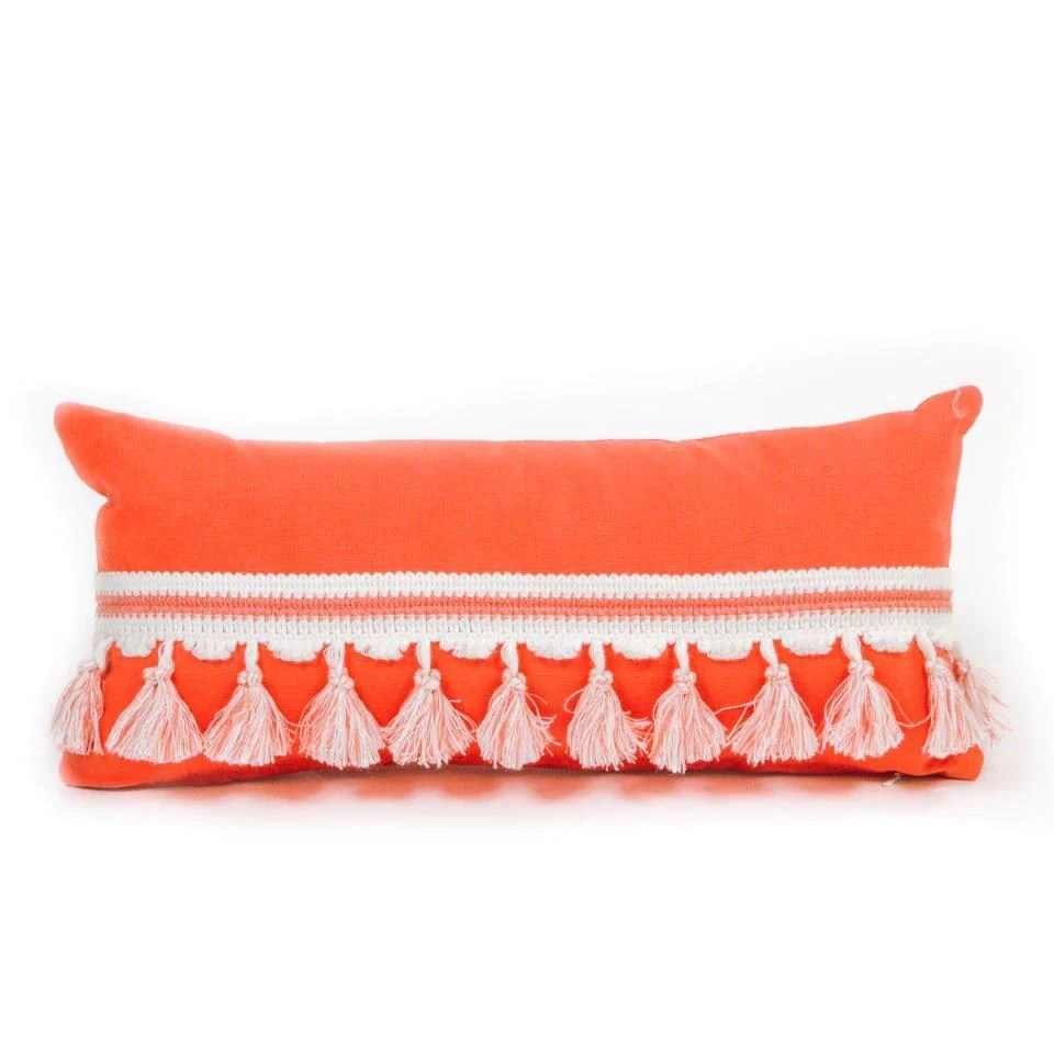 bolster pillow coral