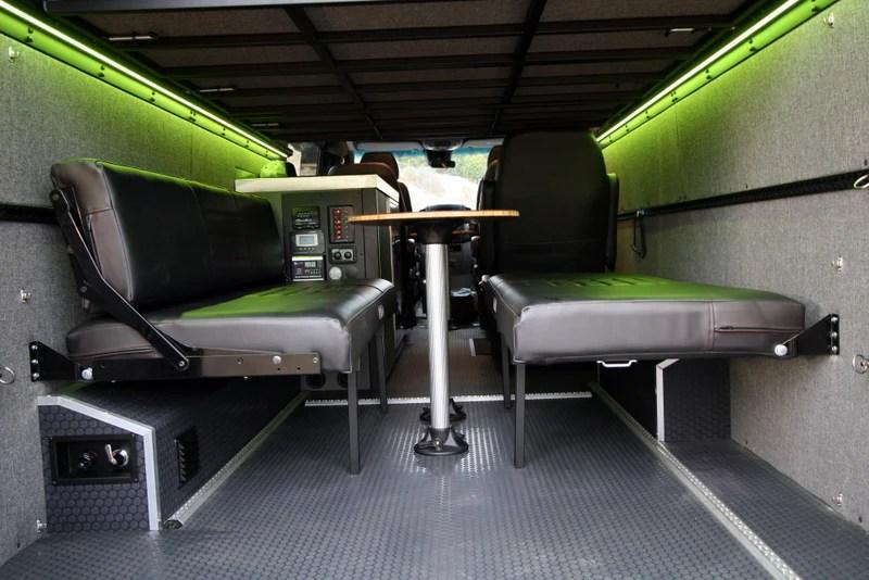 58 Rear DinetteBed Setup for 07 Sprinter Vans  Black