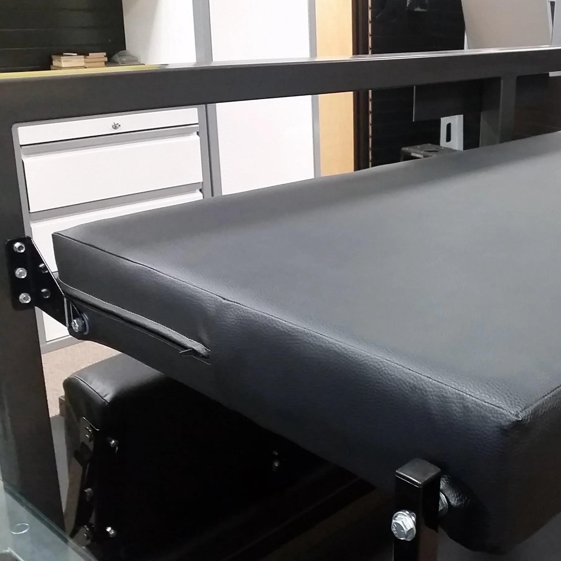 Folding Bunk Bed 76 Black Vinyl Rb Components