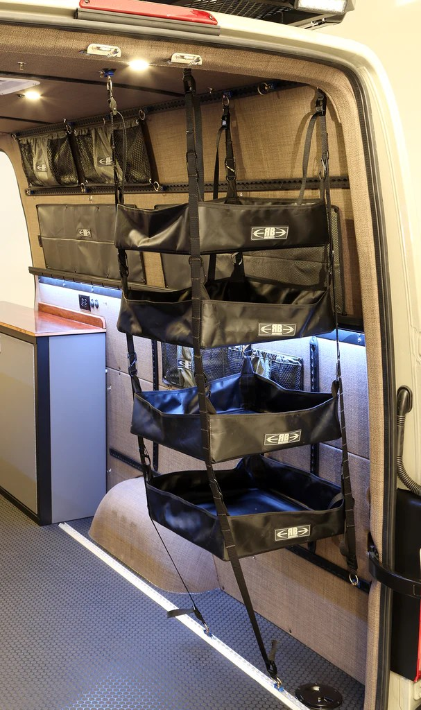 2007 Sprinter Van Fabric  75H Adjustable Hanging Shelf