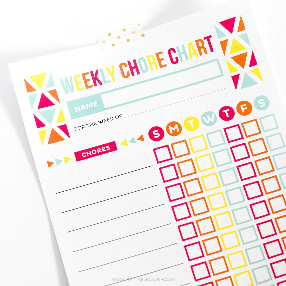 Editable chore chart for kids also  printable crush rh crushshopify