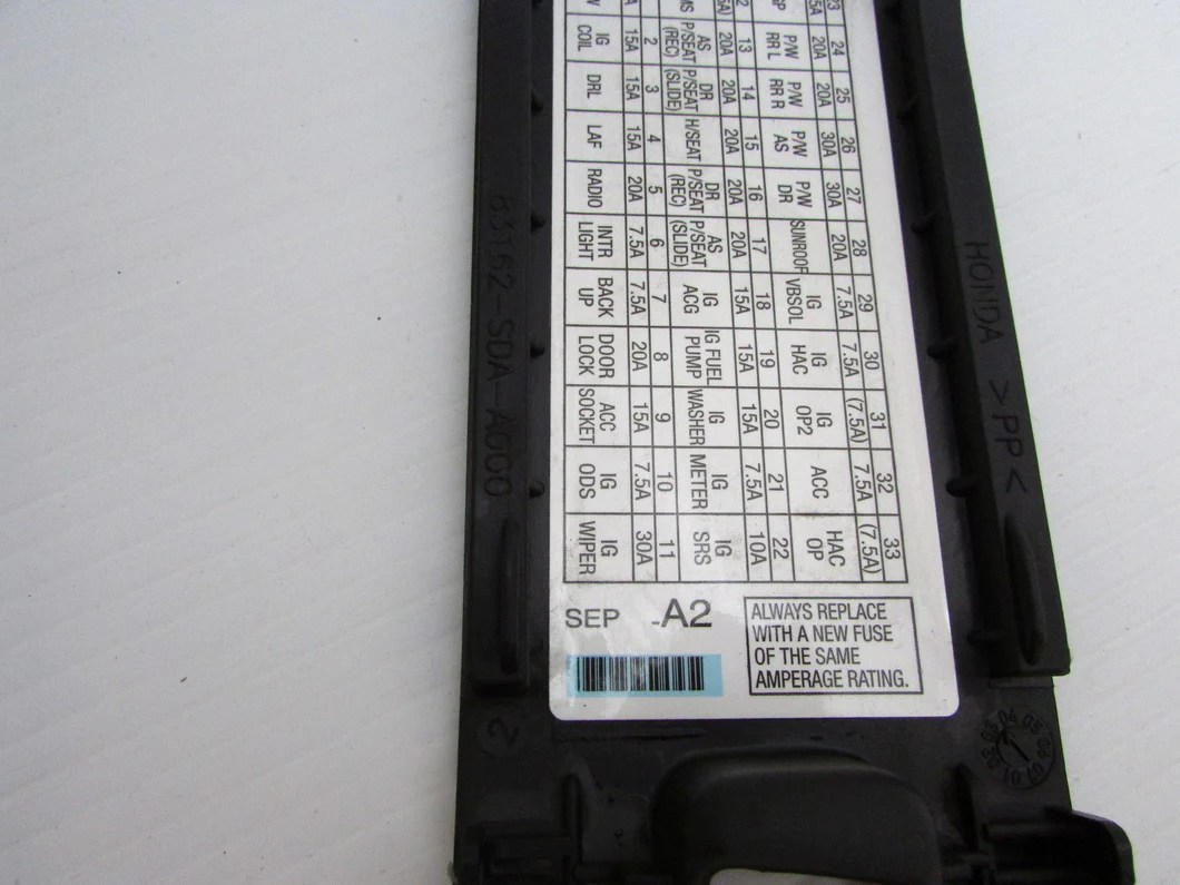 medium resolution of  04 05 06 07 08 acura tl left front pull fuse box door cover kick panel
