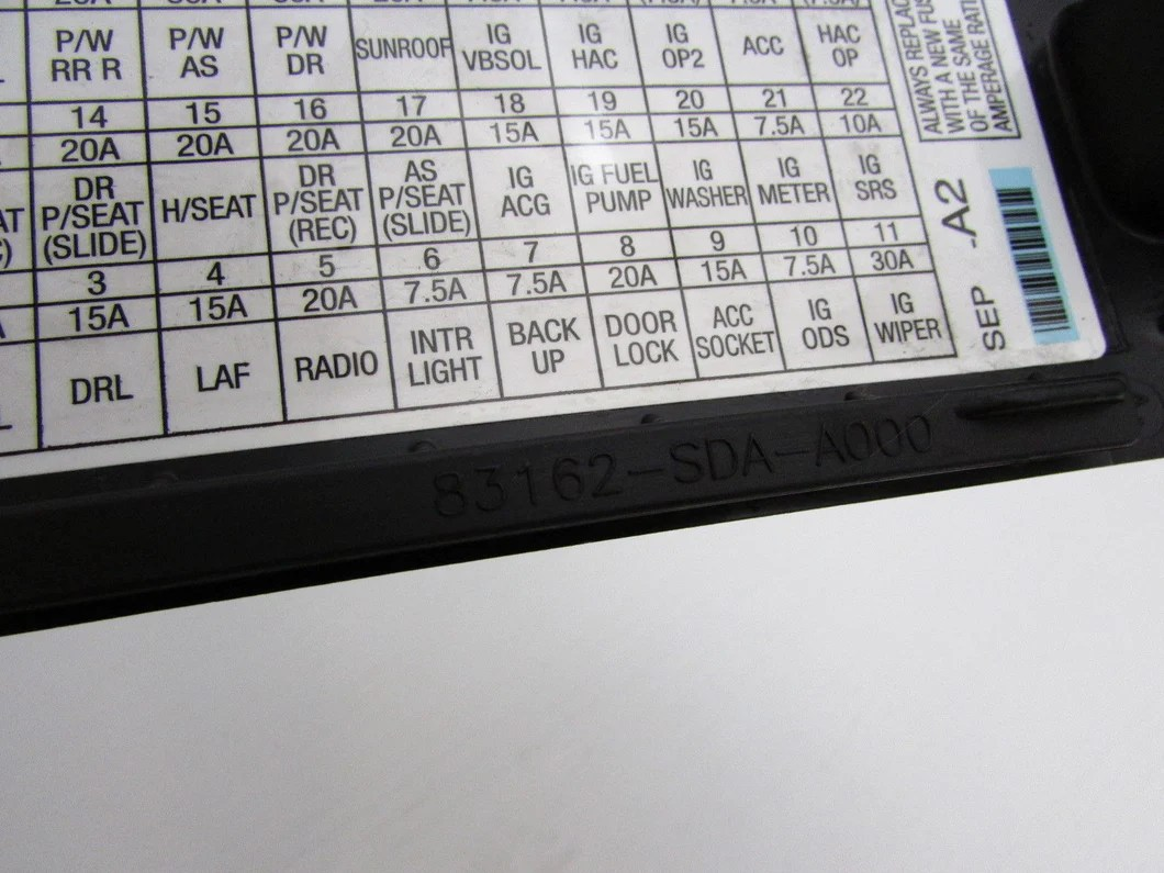 04 05 06 07 08 acura tl left front pull fuse box door cover kick panel  [ 1060 x 795 Pixel ]