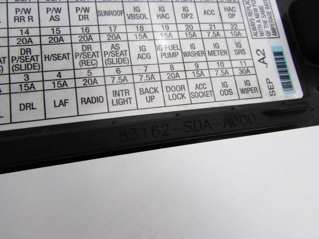 medium resolution of 04 05 06 07 08 acura tl left front pull fuse box door cover kick panel