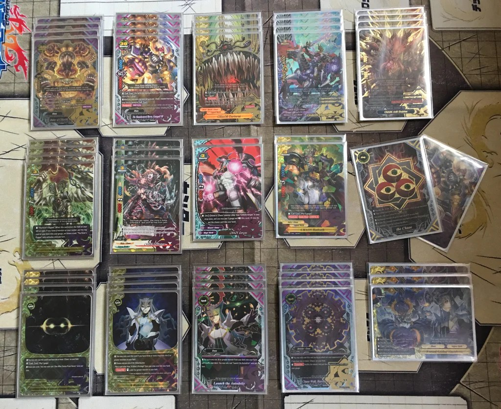 Future Card Buddyfight Constructed Deck Chaos