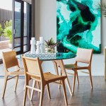 Fenton Fenton Woodrow Round Marble Dining Table In Green