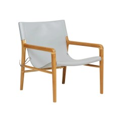 Leather Sling Chairs Chair Outdoor Cushions Fenton Teak Grey