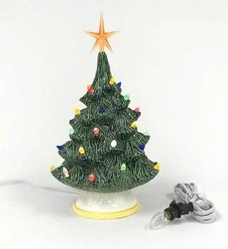 small traditional christmas tree