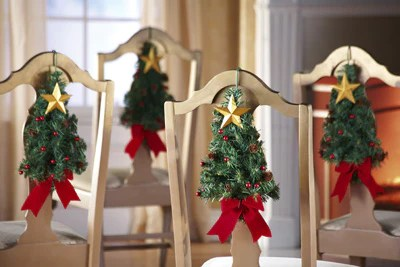 luxury christmas chair covers breezi accessories 15 cute ways to give your dining chairs a festive makeover interior dezine